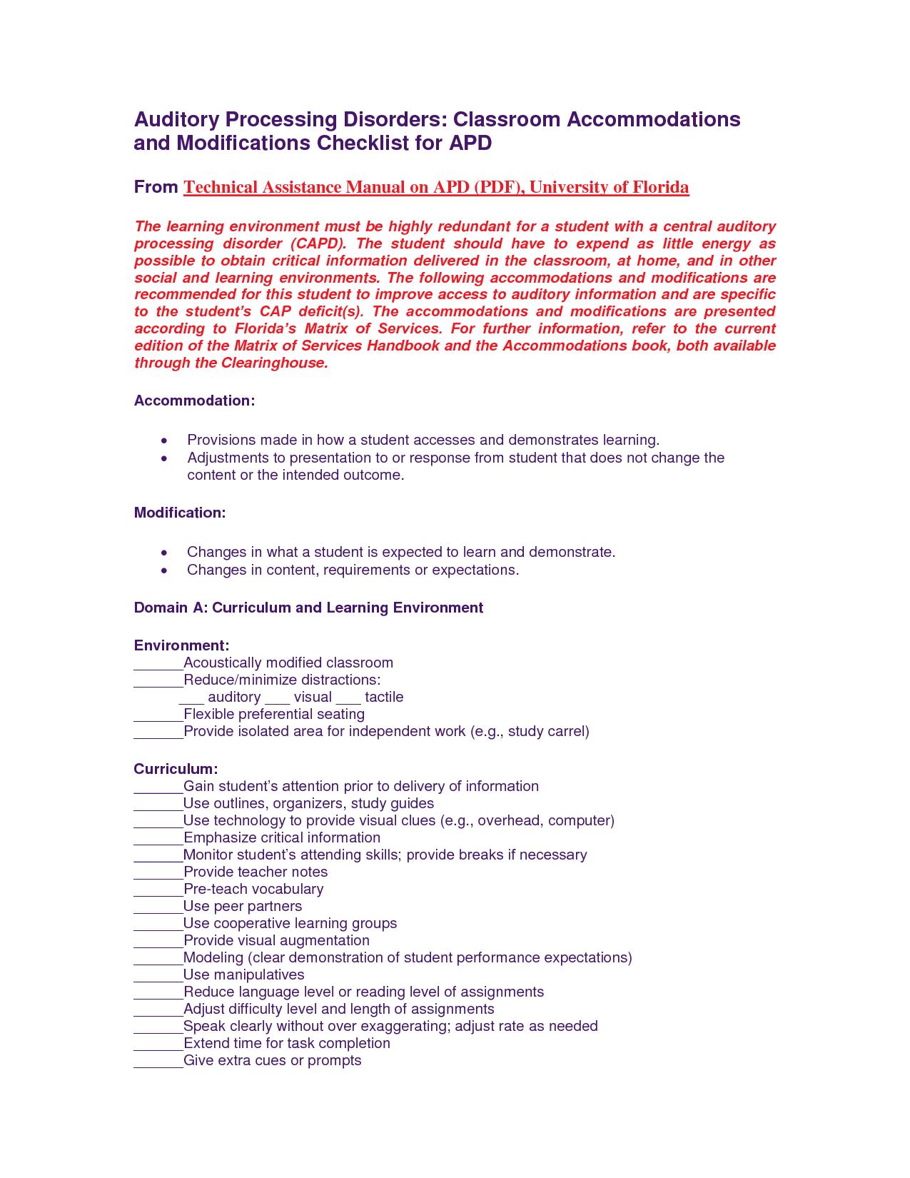 Regulae Form Checklist Apd