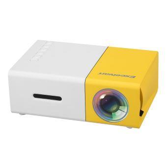 Mini projecteur à la maison 320 * 240p Soutien 1080p AV, USB, carte SD, interface HDMI blanc et jaune