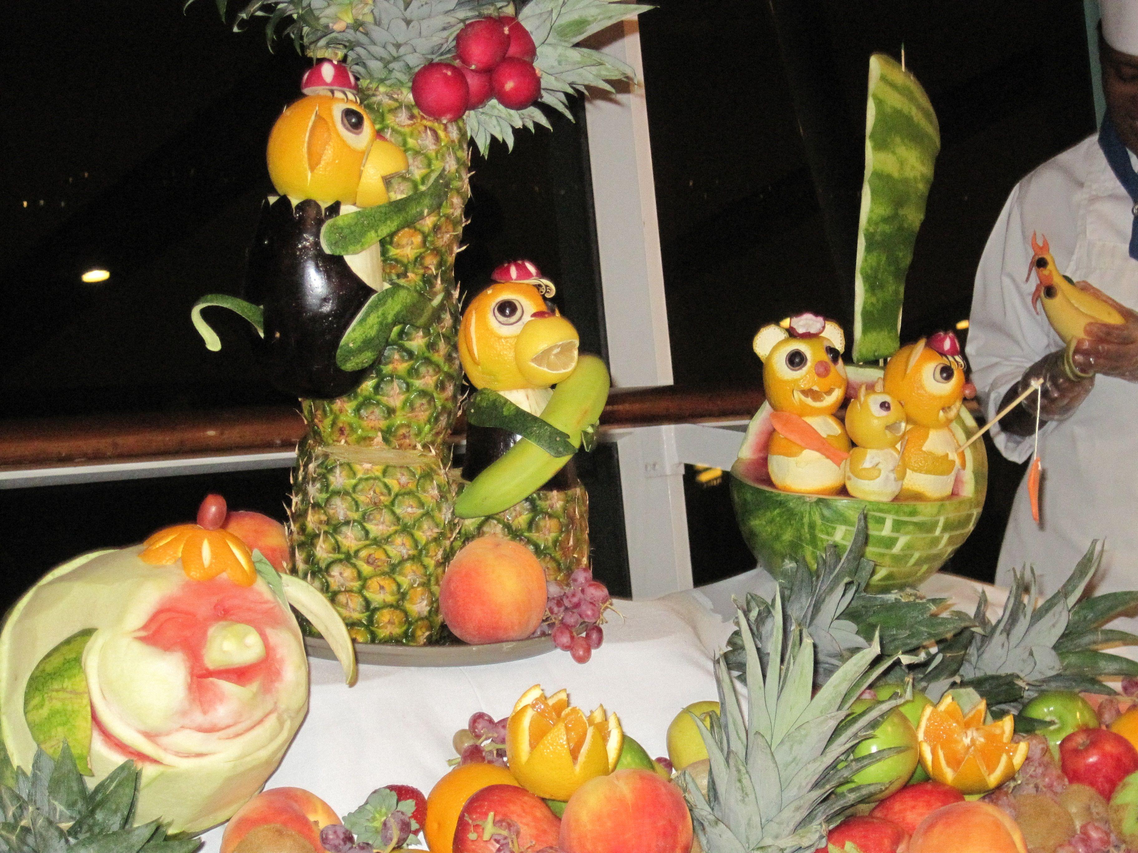 Fruit Family on Cruise Ship