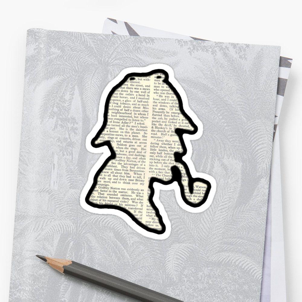 Classic Sherlock Holmes Silhouette – Scandal in Bohemia Sticker by BagChemistry