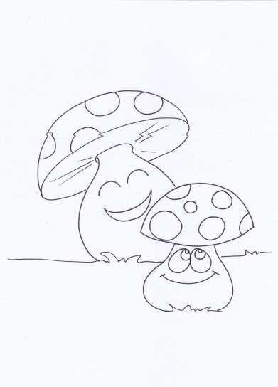 Dibujos de otoño: fotos diseños para colorear - Setas para colorear ...