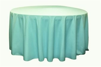 Tiffany Blue Polyester Wedding Table Linens Round Tablecloth