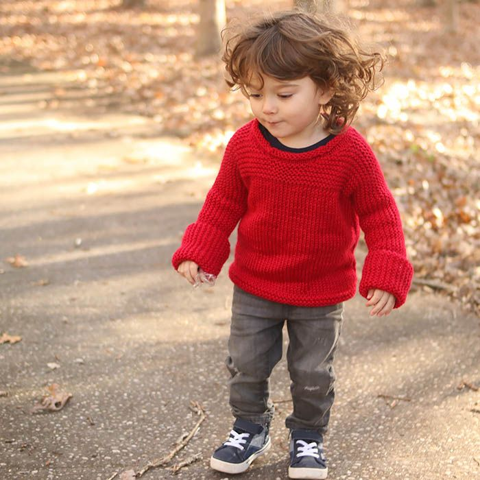 Easy Knit Toddler Sweater Knitting Pattern | Knitting patterns ...