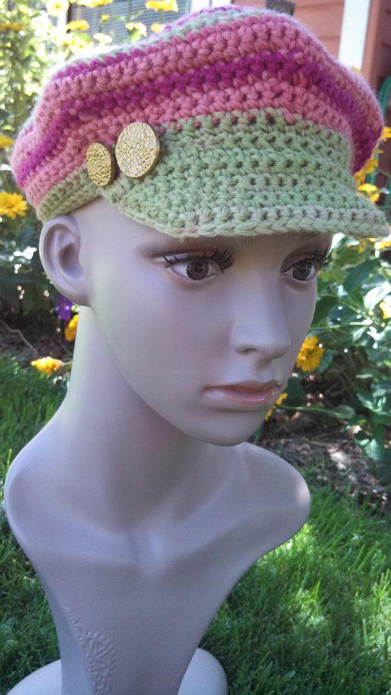 Crochet Newsboy Style Hat | Crochet Inspiraton | Pinterest | Barbie ...