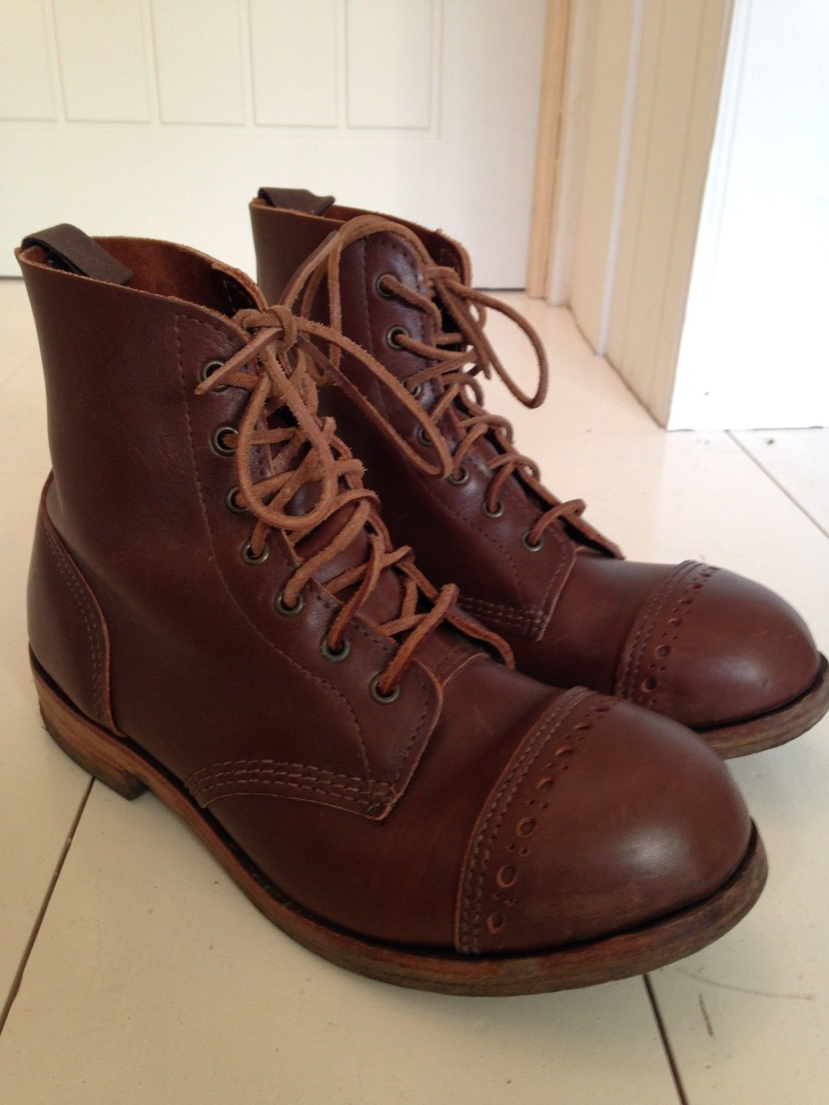 78PTC Mens Leather Derby Work Boot