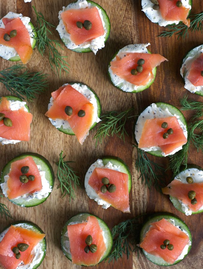 Everything Bagel Cucumber Bites with Smoked Salmon – Turnip the Oven