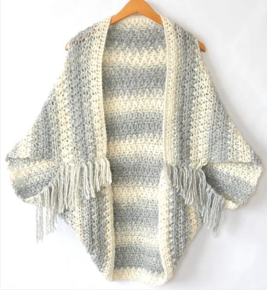 Cocoon Shrug Knitting Pattern Free Tutorial Super Easy | MUNDO DE ...