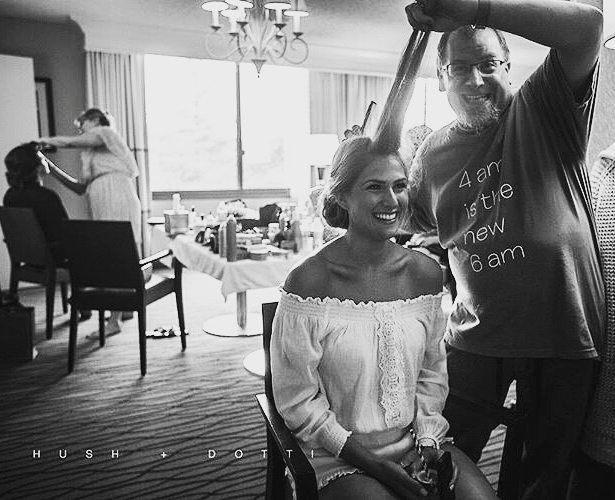 Hey we do lots of weddings & like to have fun! Hot Tin Roof owner @bitchgotnervvv & all around  hair whisperer Danny rocking Lauren's hair while @hushanddotti owner and pro makeup artist @dinapastina rocks the makeup. We have mad skills.  #hair #makeup #makeupartist #promua #promakeupartist #wedding #weddingmakeup  #bridalmakeup #weddinghair #glamsquad #love #instalove #greenbeauty #organicbeauty #hushanddotti #cleanbeauty #nontoxicmakeup #glowingskin  #veganbeauty #instamakeup…