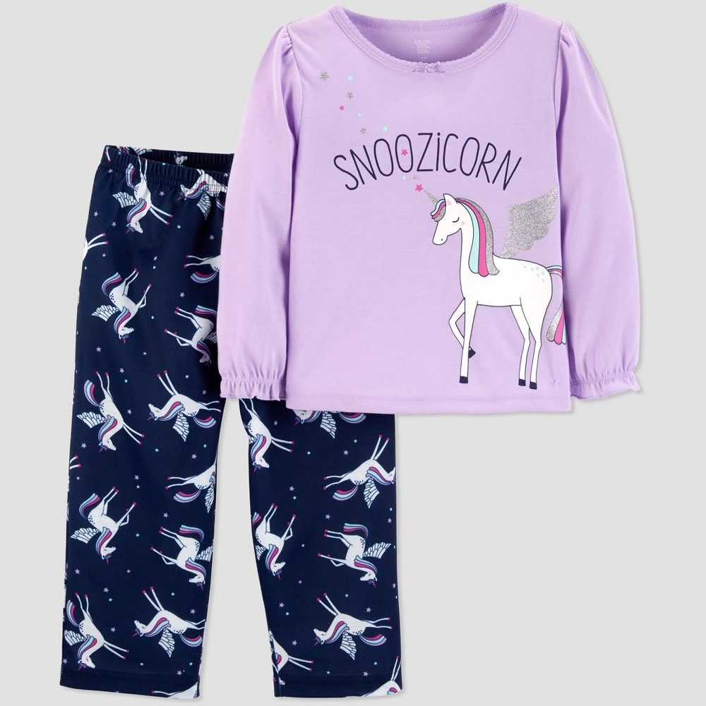 835dfa9714af Put your little one to bed in this lightweight 2pc Poly Pajama Set ...