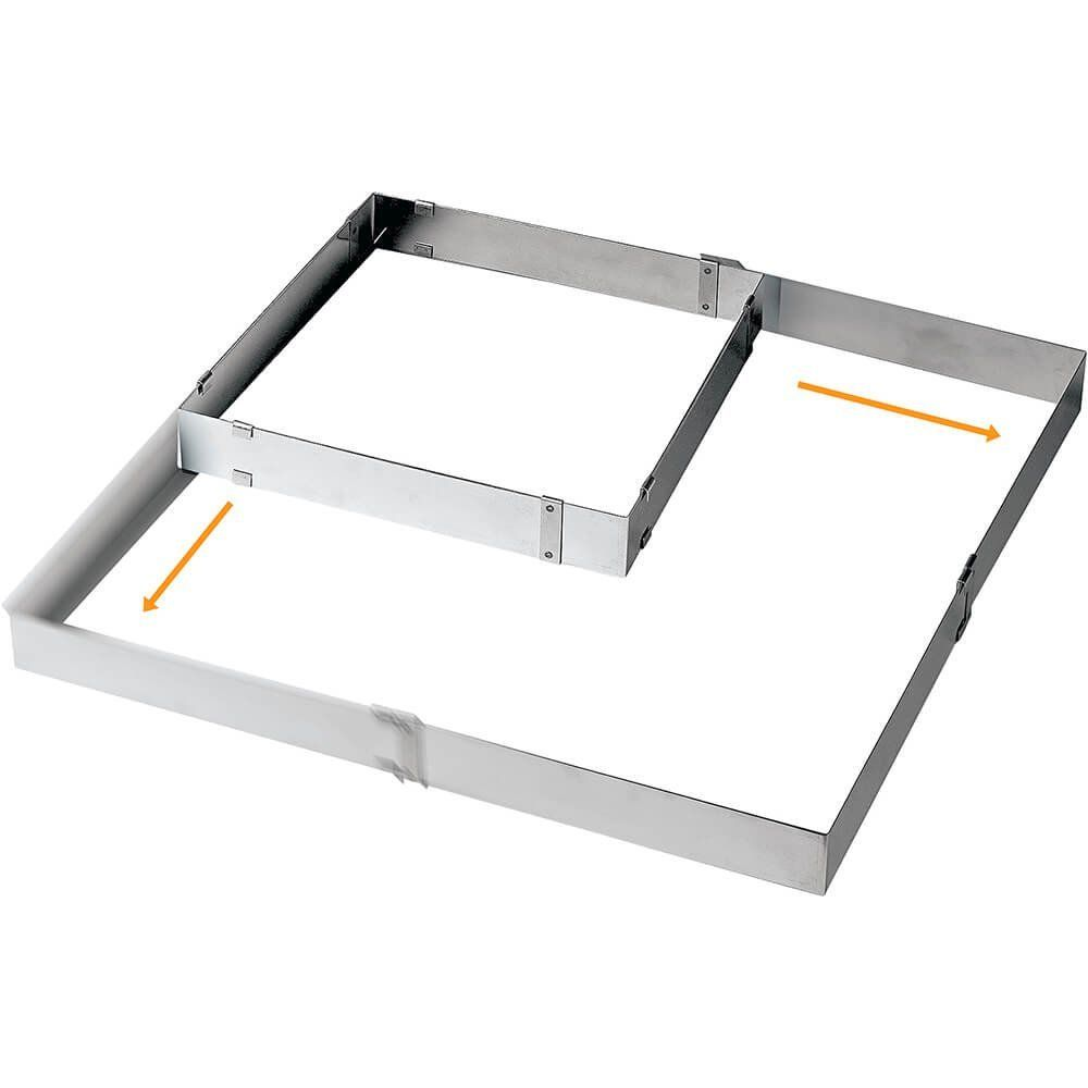 Paderno World Cuisine Adjustable Square Frame Extender From 11 7 8 Inch Square To 22 1 2 Inch Square More Info Bakeware Set Paderno World Cuisine Cake Pans