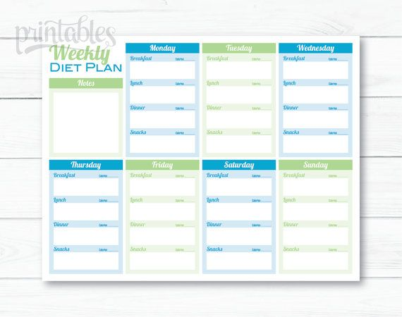 Printable Health And Fitness Planners And Printable Planner - fitness plan template