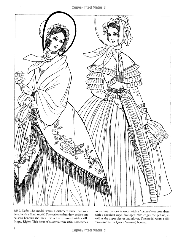 Godey's Fashions Coloring Book (Dover Fashion Coloring