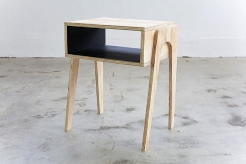 Retro inspired personalised plywood bedside table danish for Danish design furniture replica uk