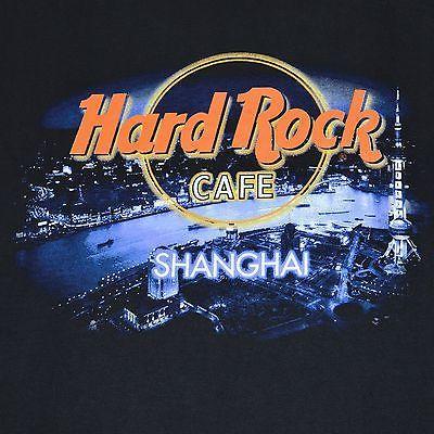 Hard Rock Cafe T Shirt Black Shanghai Men S Xl Scenic Travel Hard Rock Hard Rock Cafe Scenic Travel