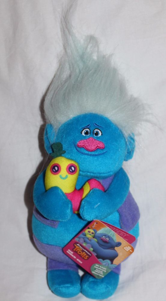 Plush Biggie Doll With Mr Dinkles Dreamworks Trolls Authentic Us