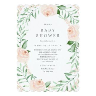 Soft Garden Florals Baby Shower Invitation  Baby S