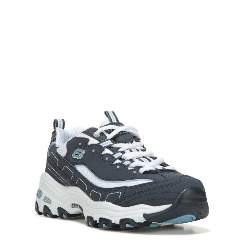 Women's D'Lites Wide Sneaker | Skechers, Navy, white, Sneakers