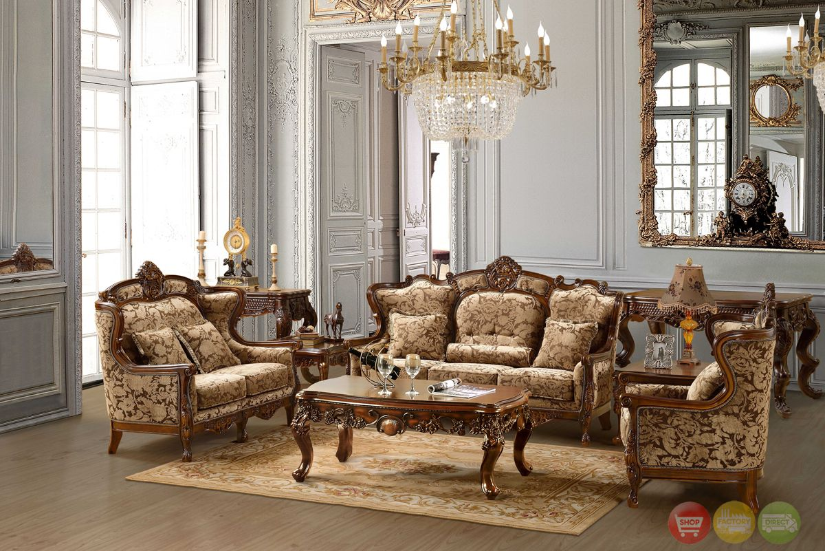 Attractive Traditional Living Room Furniture Part - 11: Luxurious Traditional Style Formal Living Room Furniture Set HD 839