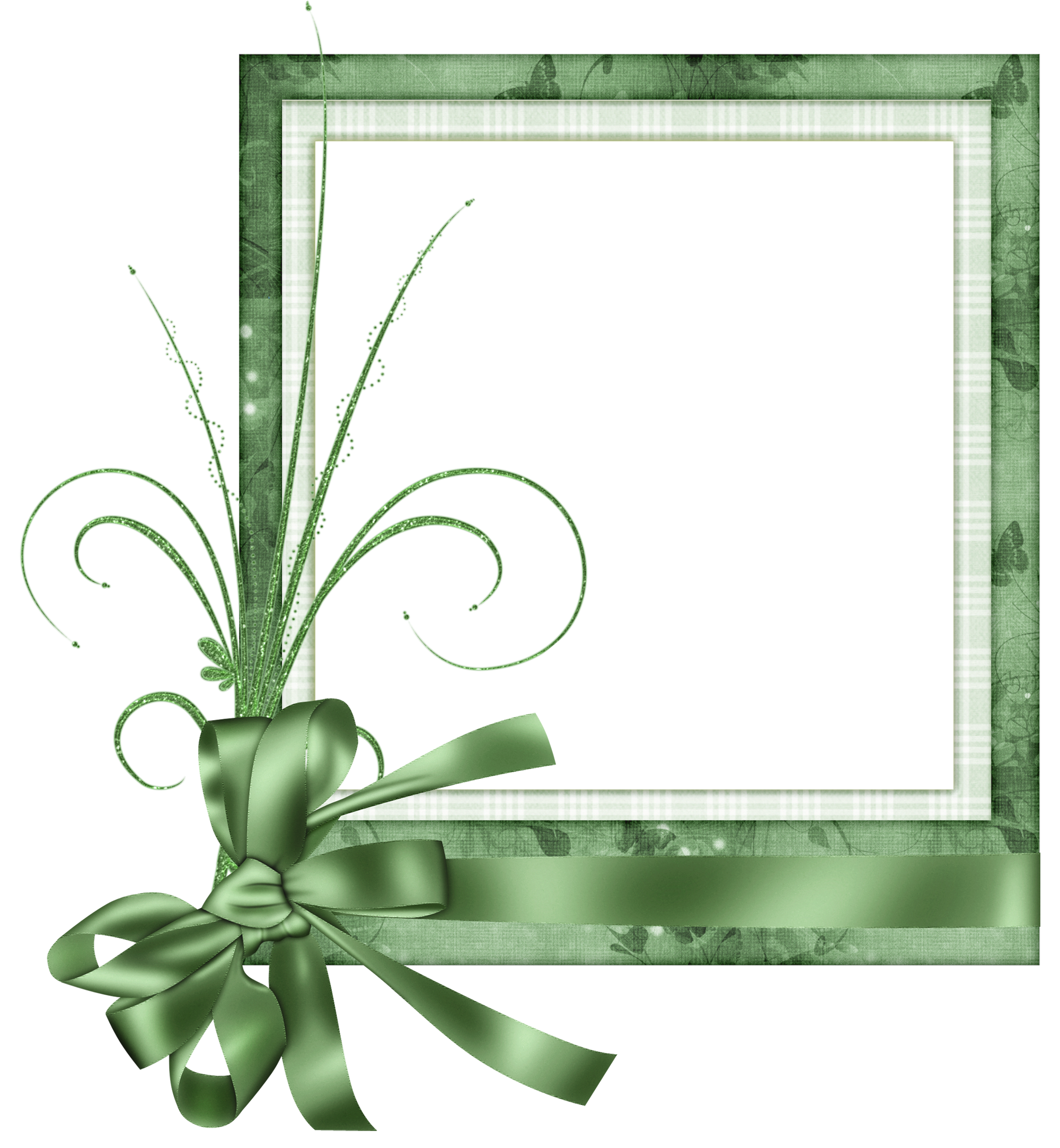 Cute Green Transparent Frame With Bow Birthday Photo Frame Frame Transparent Picture Frames