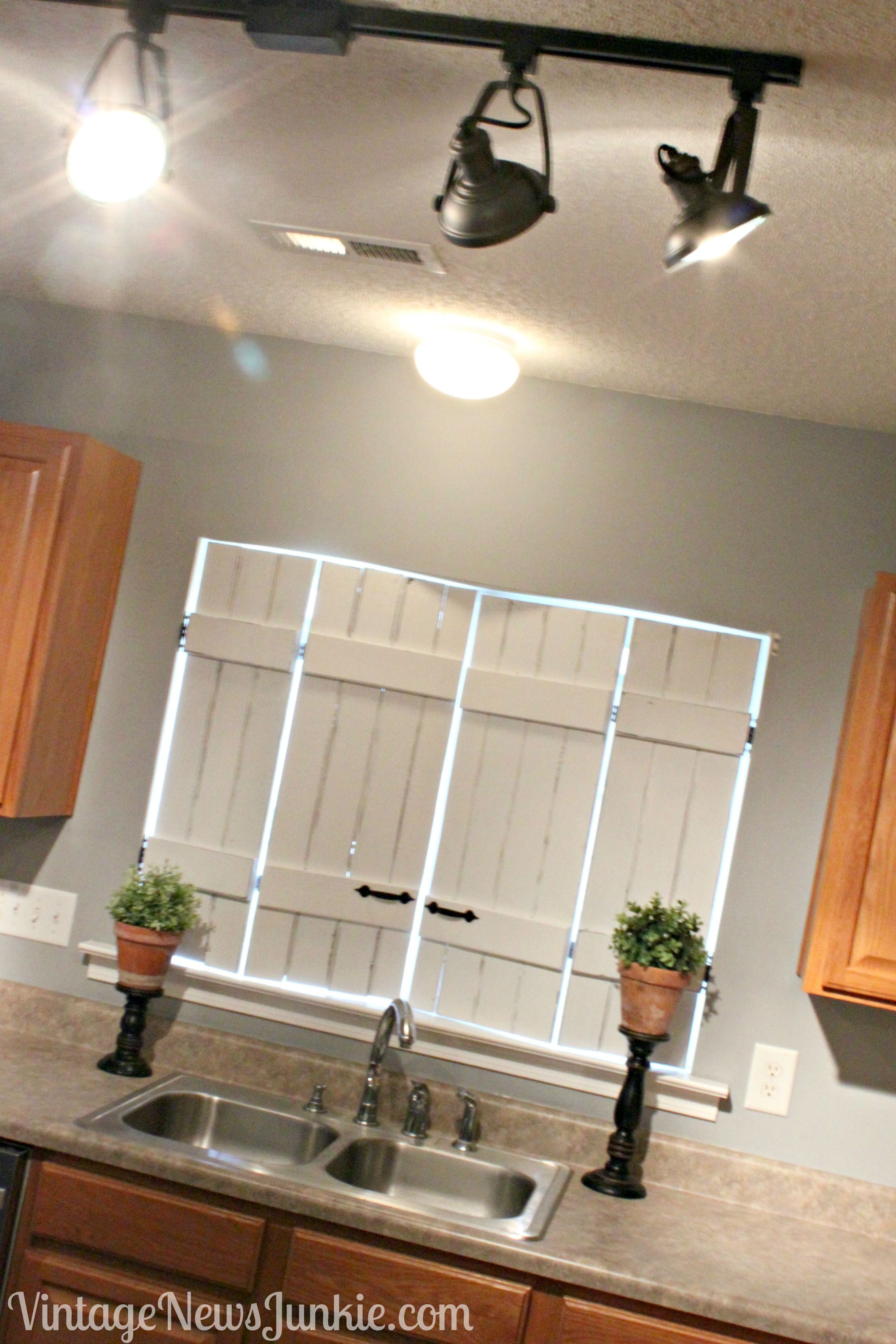 Ikea Bed Slats Turned Indoor Shutters Kitchen Shutters