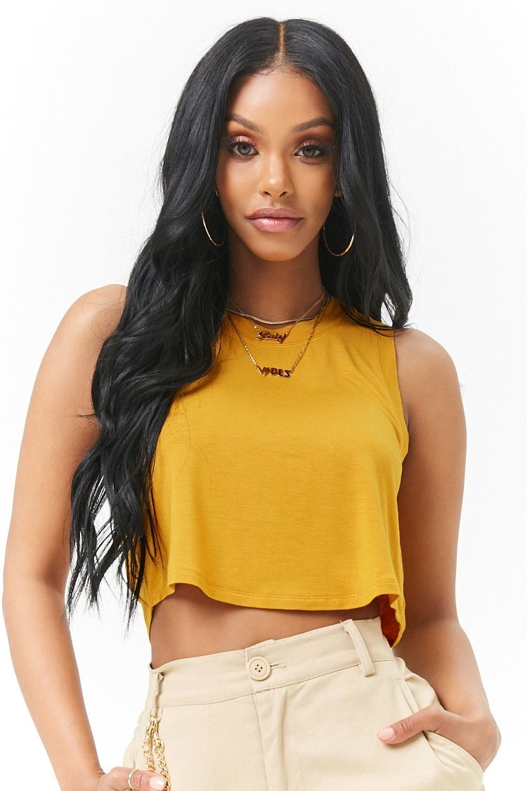 c5c7505ac8a52 Relaxed Cropped Tank Top