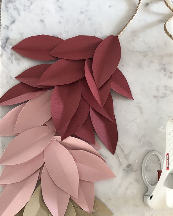 Colorful Paper Leaf Garland for Fall