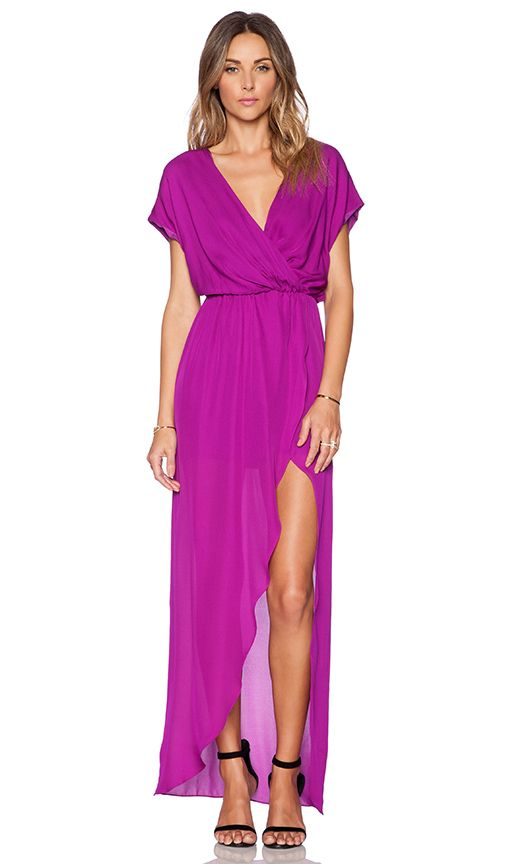 Rory Beca Plaza Wrap Gown in Fuchsia | spring/summer wardrobe ...