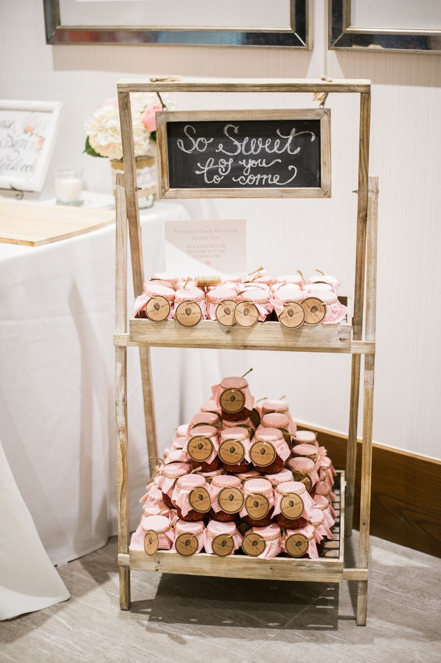 Rustic Favour Display At Kahla And Marcs Wedding W Home Made Jam Photo By HeideLau Photography Toronto Available Southern Charm Vintage Rentals