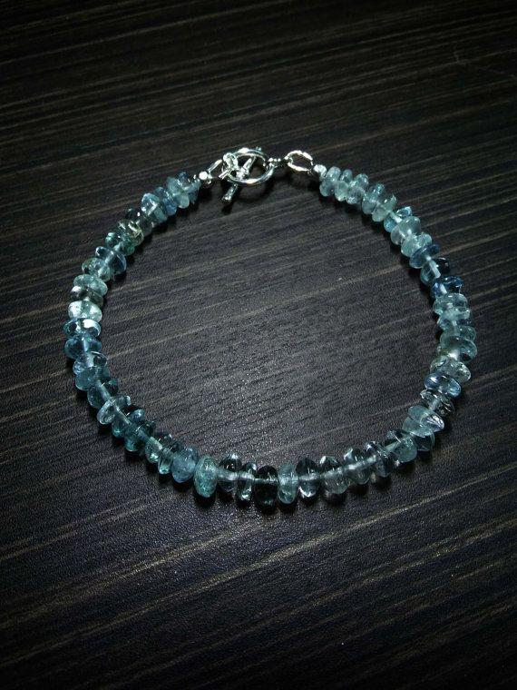 Aquamarine Bracelet-Beryl Bracelet-Aquamarine by CutCutWorkshop