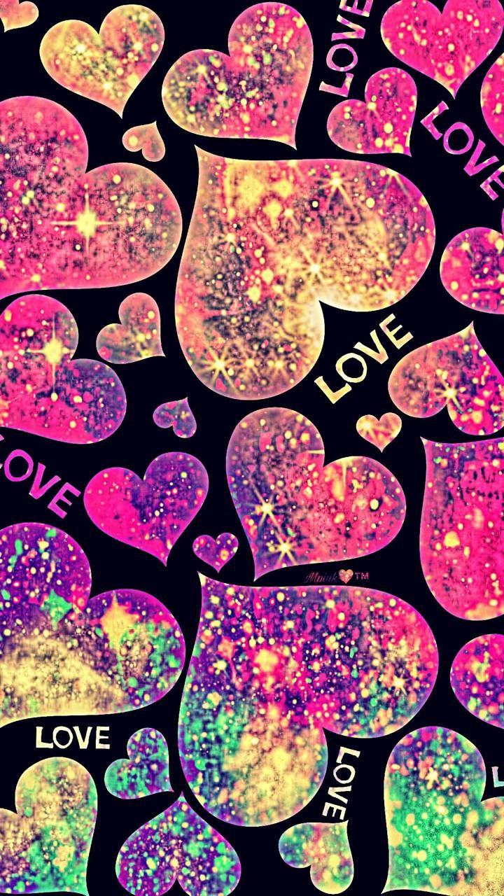 Neon Love Galaxy Wallpaper Androidwallpaper Iphonewallpaper Wallpaper Galaxy Sparkle Glitter Pink Glitter Wallpaper Glitter Wallpaper Love Pink Wallpaper