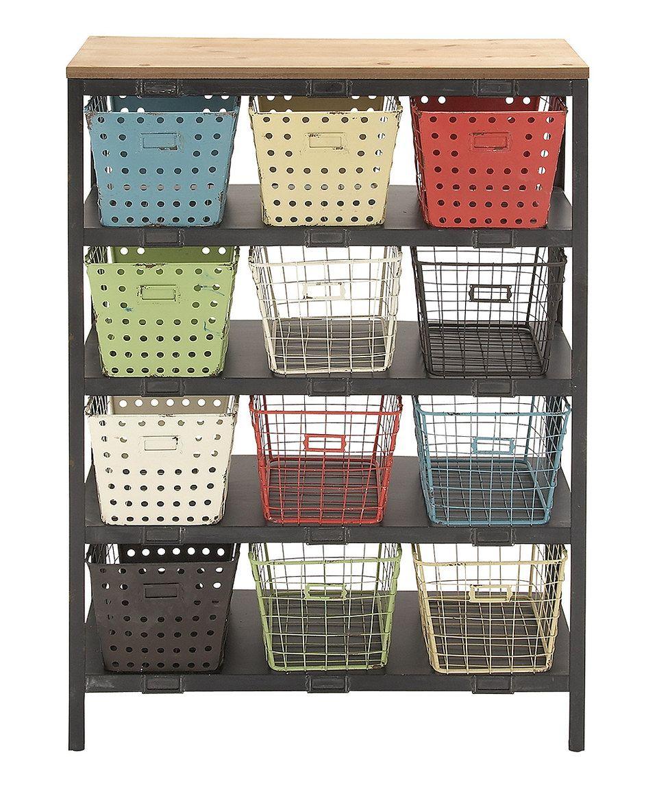 12 Basket Storage Rack By Uma