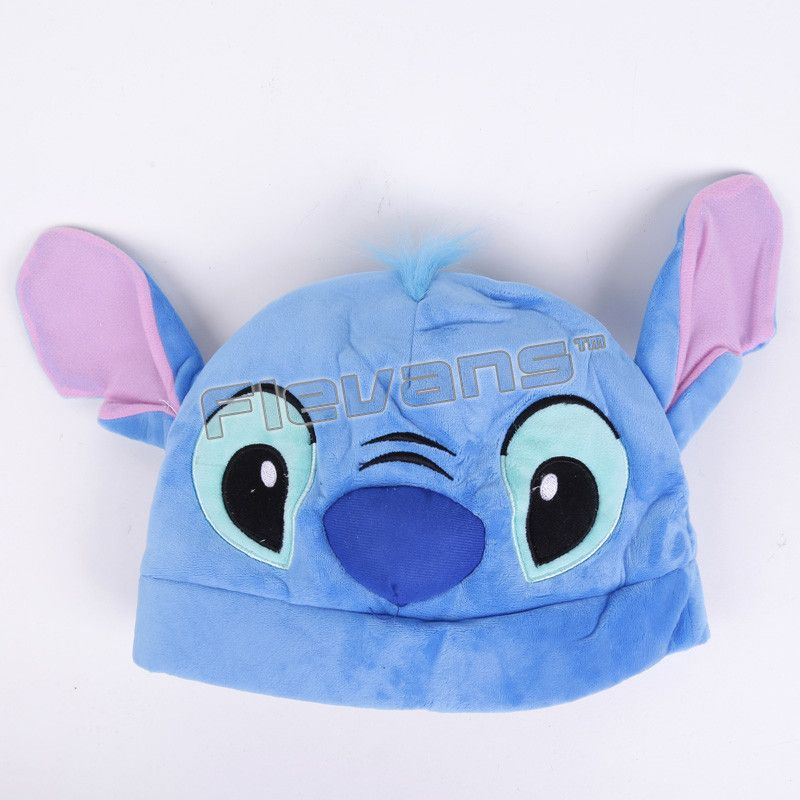 Anime Cartoon Pikachu Rilakkuma Stitch Kiki's Delivery Service Jiji Plush Hats Dolls Stuffed Toys Cosplay Winter Hat Cap 4Styles