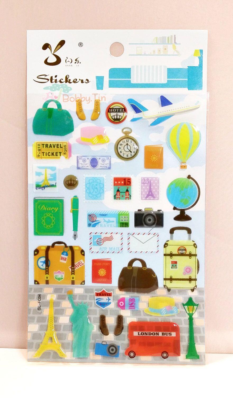 Kawaii Travel Epoxy Sticker Scrapbooking, Card-making ...