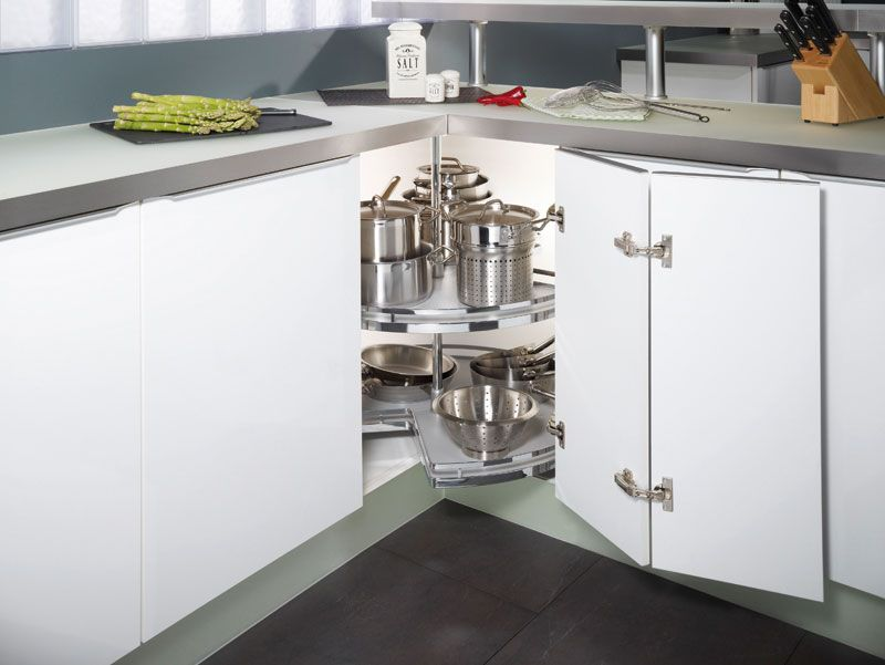 Genial 3/4 Carousel   Allows You To Spin Your Cupboard Contents Towards You. Ideal  For Storing Pots And Pans With Each Shelf Able To Hold 20kg Of Weight.