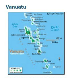 Vanuatu Map South Pacific SuziLovecom Love of Vanuatu South