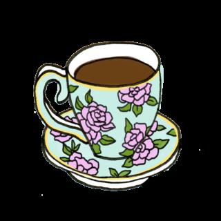 オリジナルサイトにて高画質イラストのダウンロード無料です This Is Free Clipart Of An Antique Style Coffee Cup 2020 コーヒーカップ 無料 コーヒー