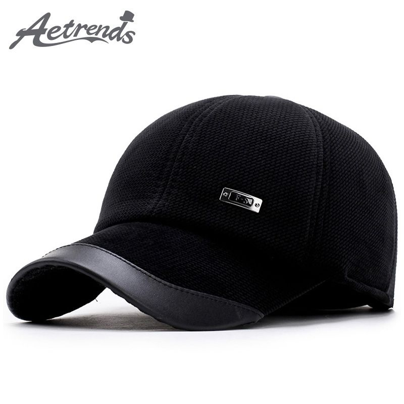 184fad04b5c33 2017 Winter Baseball Cap Men Keep Warm Dad Hat Thicken with Ear Flaps Bone  Men s Snapback