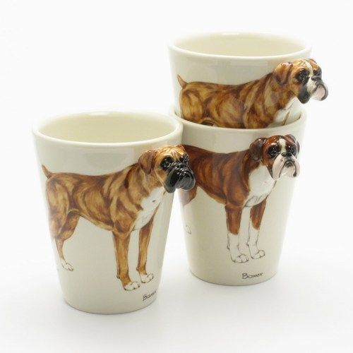 Crafts For Dog Lovers: Boxer Dog Lover Ceramic Handmade