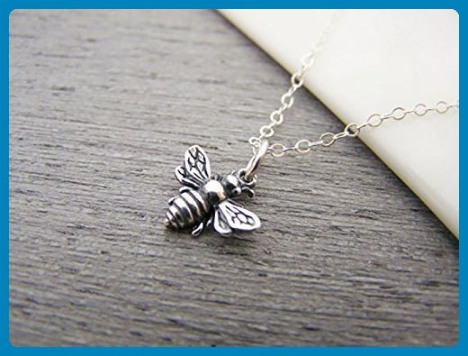 Bumblebee Tiny Sterling Silver Bee Necklace - Wedding nacklaces (*Amazon Partner-Link)