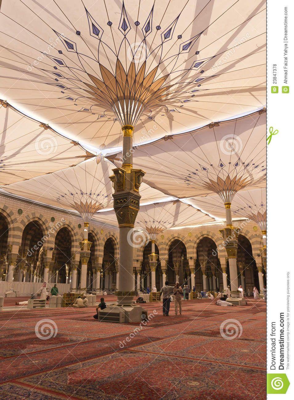 Interior Masjid Mosque Al Nabawi Medina 23847378 Jpg 954 1 300 Pixels Medina Mosque Mosque Mecca Wallpaper