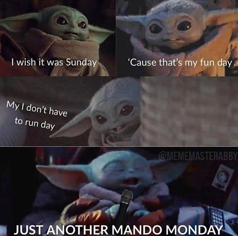 Good Song Thats Its Based Off Its Called Manic Monday Yoda Funny Funny Star Wars Memes Star Wars Humor