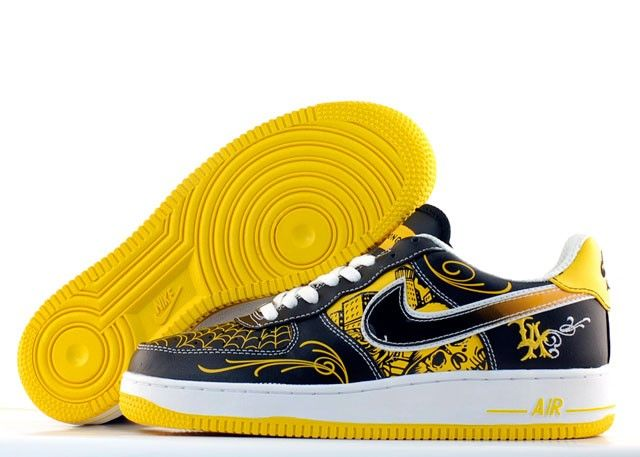 super popular 812ec 3fb1c Nike Air Force 1 Low Supreme TZ LAF Mr Cartoon (white black yellow) AF-H49