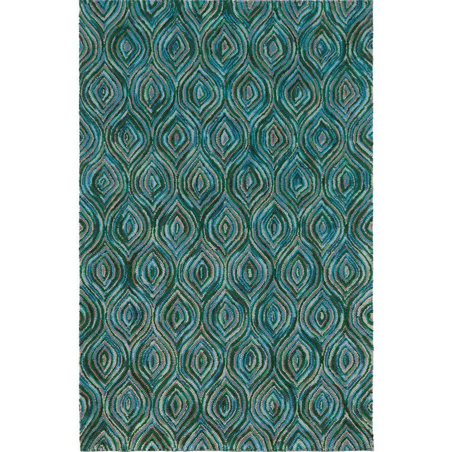 Shop Korhani Home Robina Teal Area Rug At Lowes Canada Find Our Selection Of