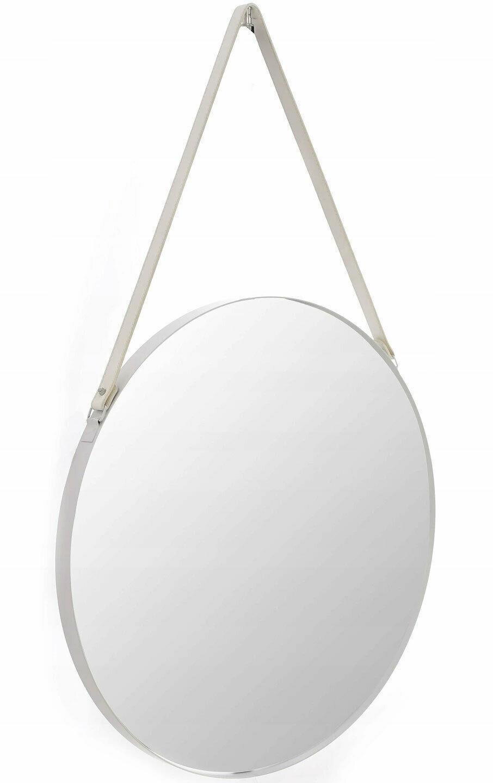 Runder Spiegel 50 60 70 Cm Weiss Loft Auf Gurtel Rahmen Cfzl Mr060 2w 1w Ebay In 2020 Runde Spiegel Spiegel Loft
