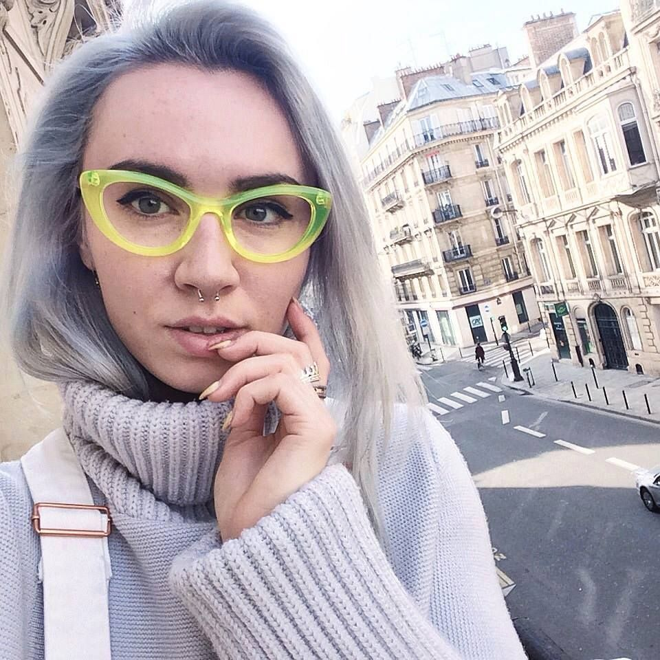theo eyewear   model Mille+04 in fluo yellow   more gorgeous, fashionable  glasses at theoeyewer.com 1a06a2e8e1f4