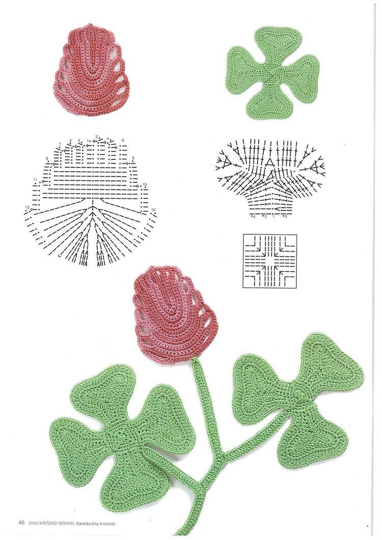 Patrones Crochet   Flores de crochet   Pinterest   Patrones crochet ...
