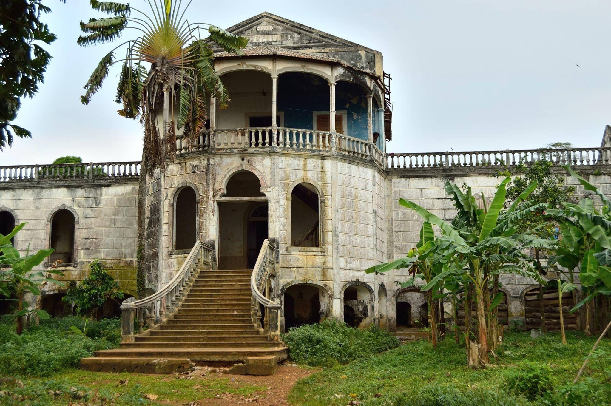Abandoned Hospital At Roca Agua Ize Sao Tome And Principe Taken