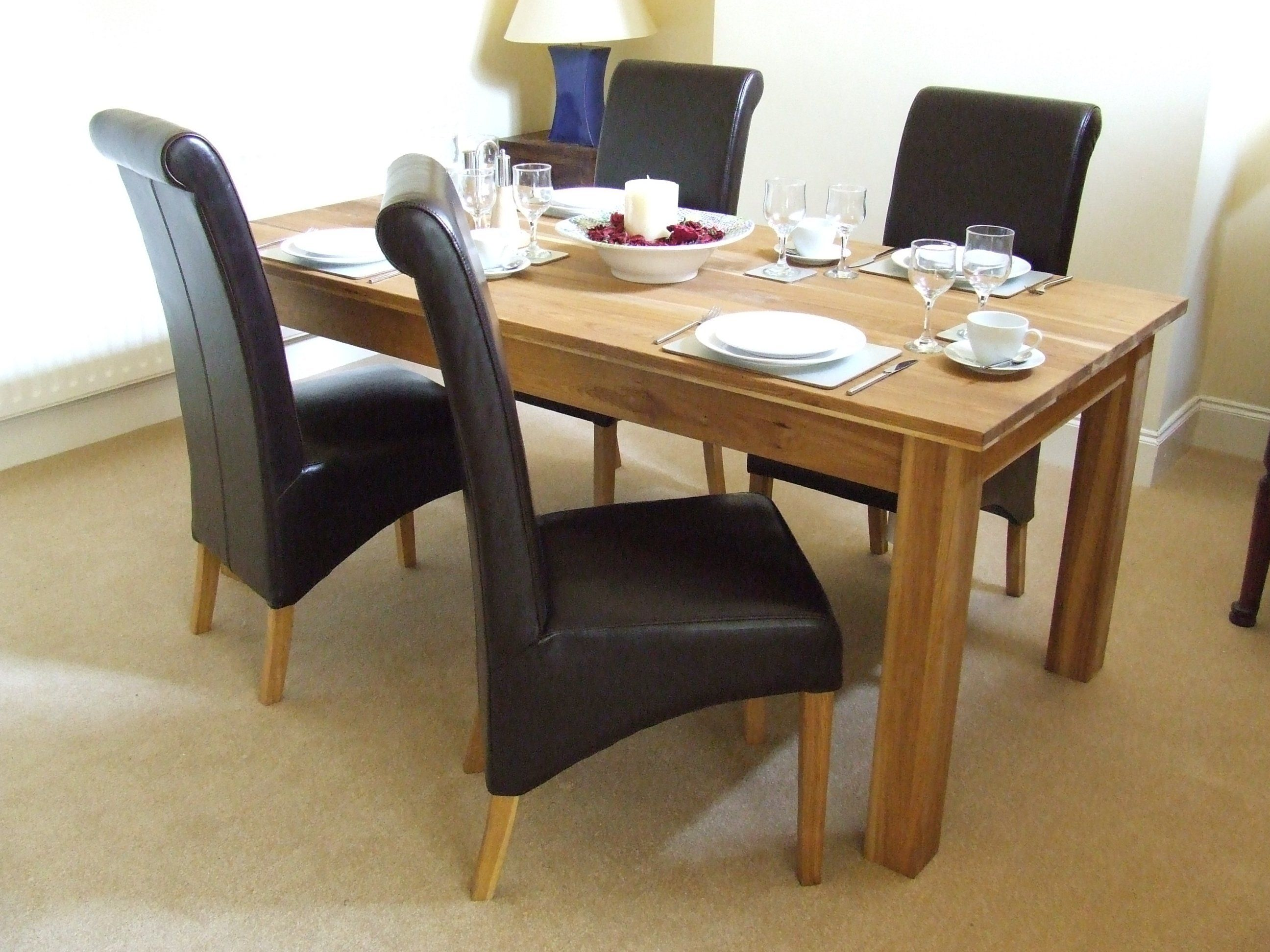 Solid Oak Dining Table And Chairs  Go To Chinesefurnitureshop Glamorous Oak Dining Room Furniture Decorating Inspiration