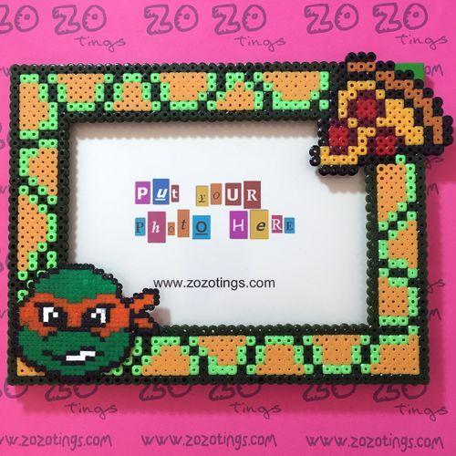 Turtles 'TMNT' Pixel Photo Frame | Perler Patterns | Beads