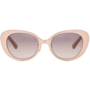 Linda Farrow Rounded Cat Eye Sunglasses